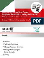 RFMD wideband line of GaN
