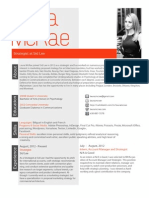 Resume August 2013