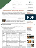 Los Instrumentos_ Generadores de Sonido - Recursos Educ