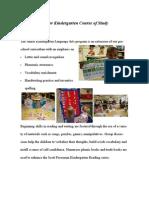 junior kindergarten curriculum 2013