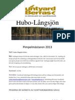 Hubo-Langsjon pimpeltavling 2013