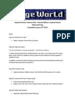 Imperial Armor 2nd Ed FAQ and Errata