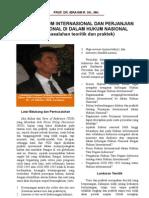 Status perjanjian internasional dalam tata perundangan nasional