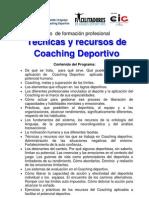 Formación en  Coaching Deportivo 2013