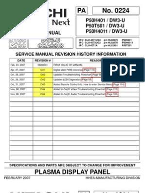 Hitachi P50H401 Service Manual pdf | Printed Circuit Board