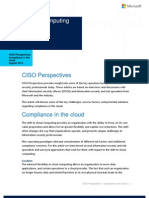 CISO Perspectives on Compliance