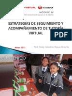 Estrategias de seguimiento y acompañamiento de tutoria virtual