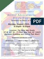 Animal Advocates for Bill de Blasio