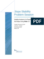 Slope Stability Problem Session