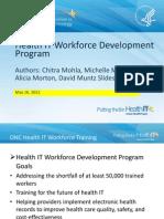 Health IT Workforce Development Program
