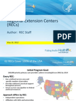 Regional Extension Centers