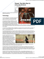 Behind the Threat - The Sith (pART4) the Teeth in the Darkness