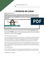 Breve Historia de Linux