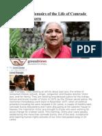 Celebratory Memoirs of the Life of Comrade Sunila Abeysekera