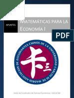60379651 Apuntes de Matematicas Para La Economia I