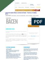 Concurso Bacen Banco Central do Brasil - Técnico e Analista - 2013