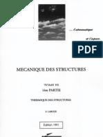 Livre - Thermique Des Structures (ENSICA 1991)