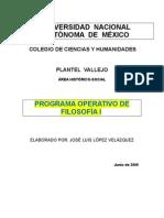Programa Operativo 1 de Filosofía
