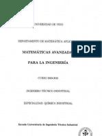 Temario matemáticas avanzadas para la ingeneiria