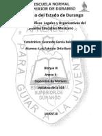 Exposicion de Motivos; Iniciativa de La Ley General de Educacion de Durango