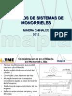 Sistemas de Monoriel para molino SAG