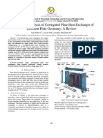 Heat Transfer Analysis of Corrugated Plate Heat Exchanger