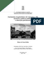 Patrimônio Arquitetônico de Cajazeiras PB: memória, políticas públicas e educação patrimonial