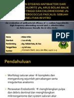 pemriksaan efesiensi antibakteri