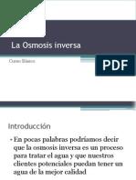 3. La Osmosis Inversa- Teoria