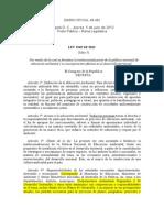 Ley 1549 de 2012 (Ley de Educación Ambiental)