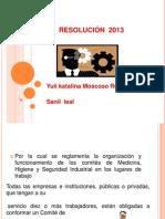 resolucion 2013