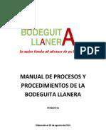 MANUAL DE PROCESOS Y PROCEDIMIENTOS la bodeguita llanera - correccion.docx