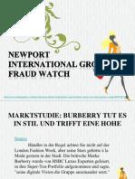 Newport International Group Fraud Watch Marktstudie