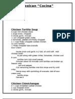 Mexican Cocina Recipe