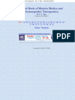 Handbook of Materia Medica - Allen