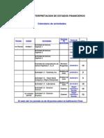 CALENDARIO - OTOÑO 2013 - ANALISIS E INTERPRETACION DE ESTADOS FINANCIEROS