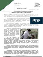 10/09/13 Germán Tenorio Vasconcelos CÁNCER INFANTIL ES CURABLE SI SE DETECTA A TIEMPO SSO1