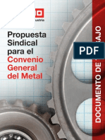 Propuesta Sindical Convenio General Del Metal