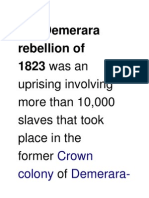 Demerara Rebellion of 1823