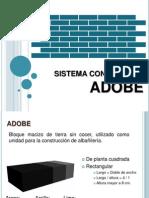 Sistema Construtivo Adobe