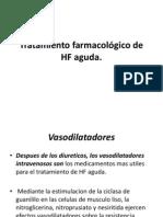 Tratamiento farmacológico de HF aguda