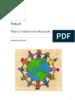 Fines y Valores en Educacion