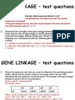 2.GENE LINKAGE - Test Questions