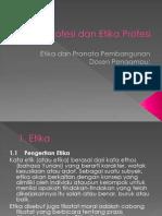 Etika, Profesi Dan Etika Profesi