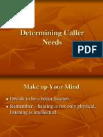 Determining Caller Needs