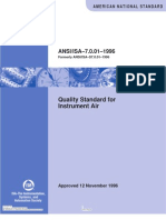 7.0.01 Quality Standard for Instrument Air Formerly ANSI ISA S7.0.01-1996