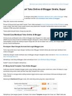 Tutorial Cara Membuat Toko Online Di Blogger Gratis Super Lengkap(1)