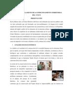 Resumen Del Reglamento de Acondicionamiento Territorial Del Cusco
