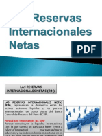 Las Reservas Internacionales Netas