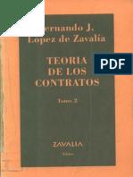 Teoria de Los Contratos Tomo 2 - Fernando Lopez de Zavalia